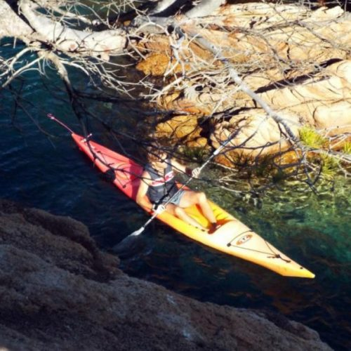 "Kayaking and snorkeling tour ""Sea caves route"""
